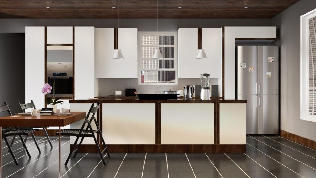 interior Produkt Visualisierung als mood Bild, Produkte in Umgebung gerendert