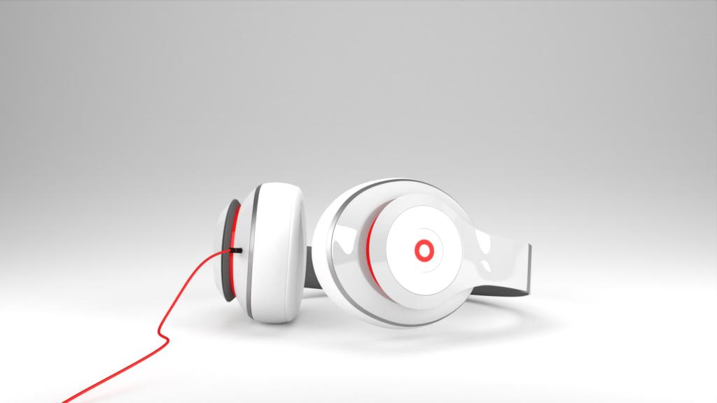 3D Produktvisualisierung von kopfhörern gerendert mit Blender