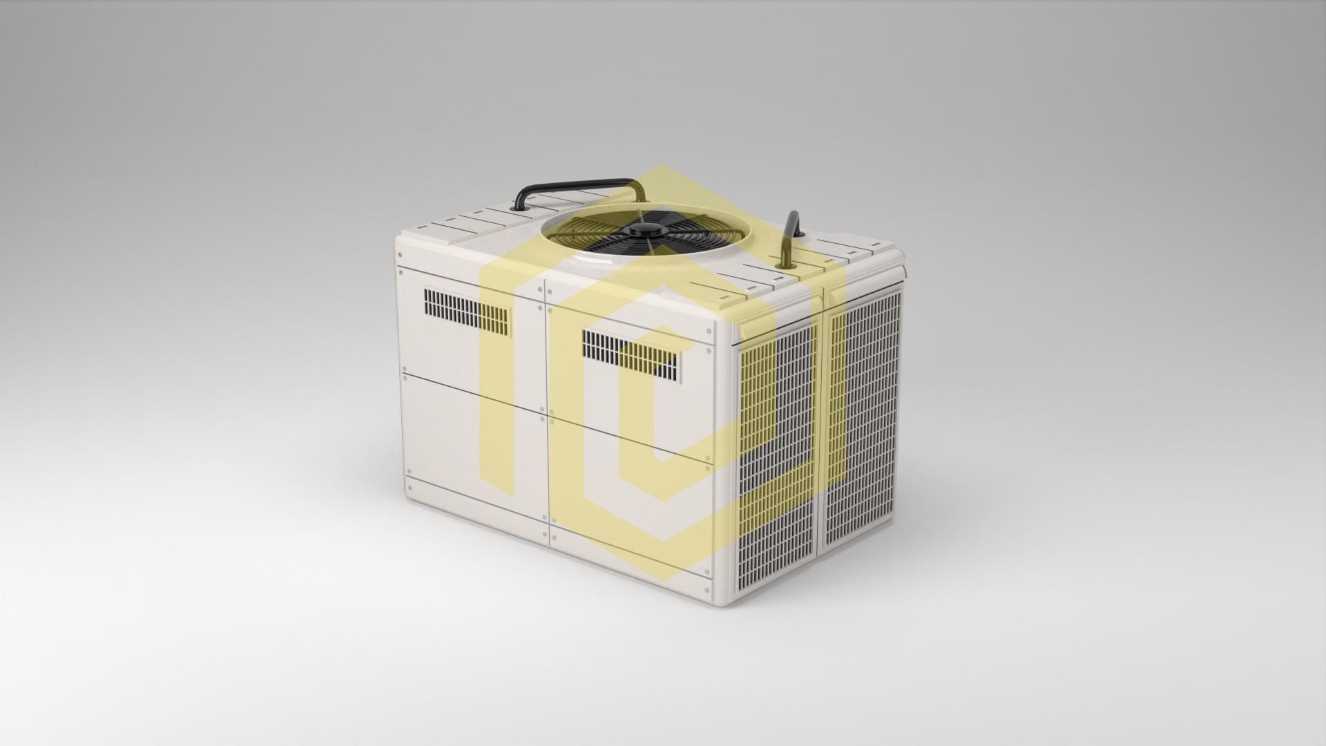 Industrie Produkt Visualisierung Wärmetauscher in Weißraum mit transparenten Schatten als PNG