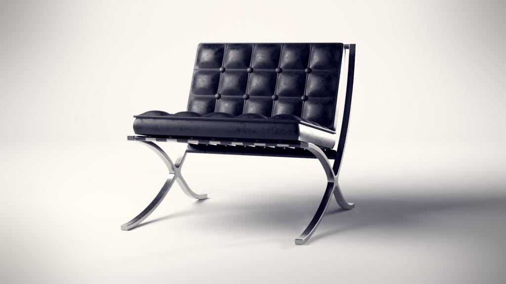 3D Produktvisualisierung eines stilvollen Sessels gerendert mit Blender