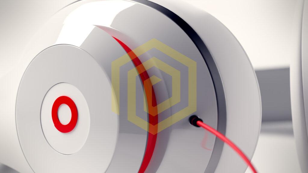 Nahaufnahme mit 85mm Brennweite von Kopfhörern