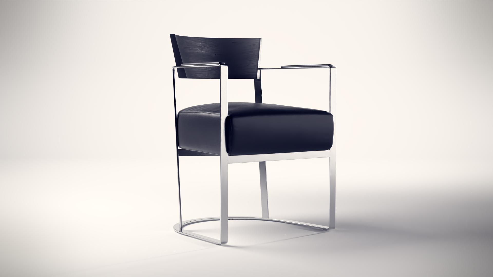 3D Produktvisualisierung von einem Stuhl gerendert mit Blender