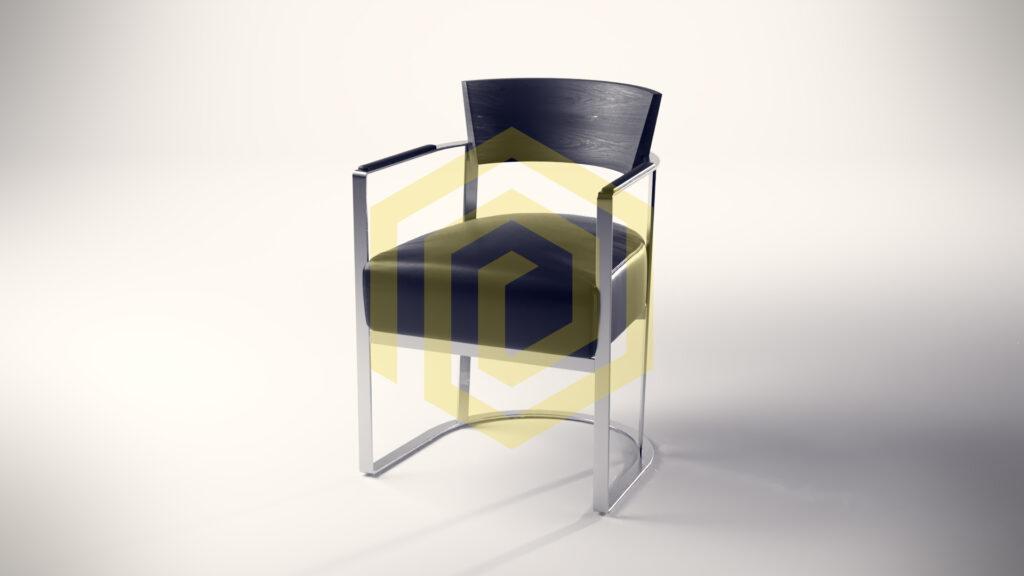 Stuhl in Lederoptik wie man ihn in einem Besprechungsraum findet, gerendert mit Blender Cycles