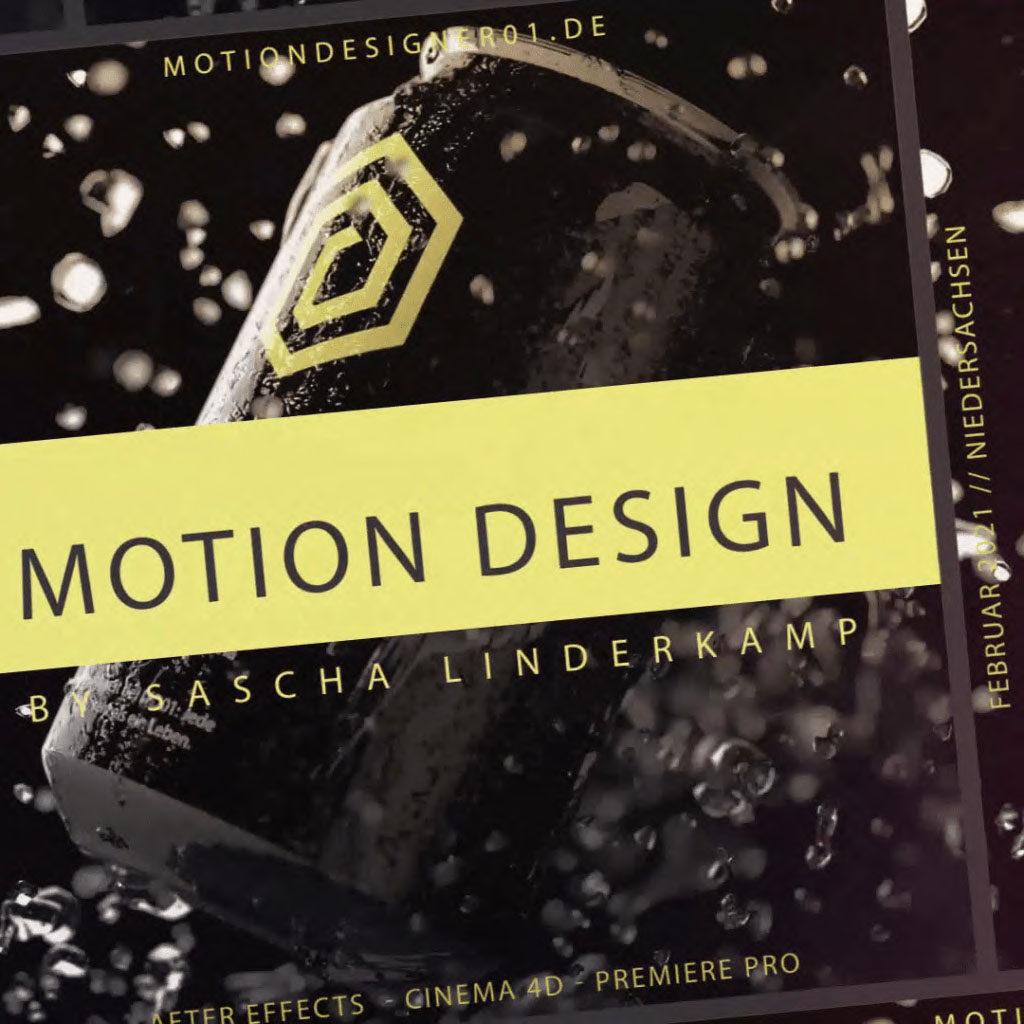 motion design cover mit gerenderter animation Dose von Sascha Linderkamp